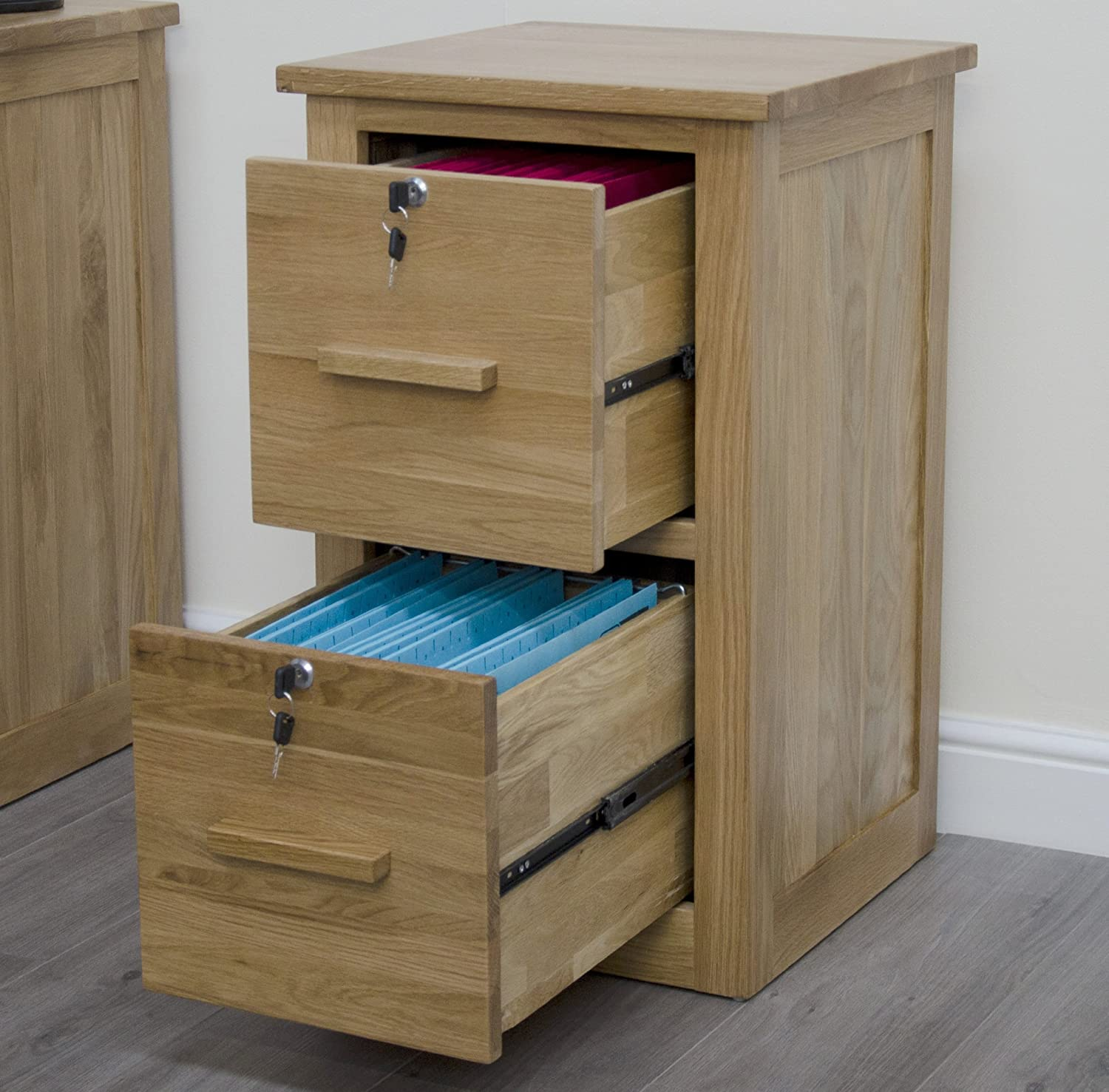 Arden Solid Oak Furniture Office Filing Cabinet With Locks: Amazon ...