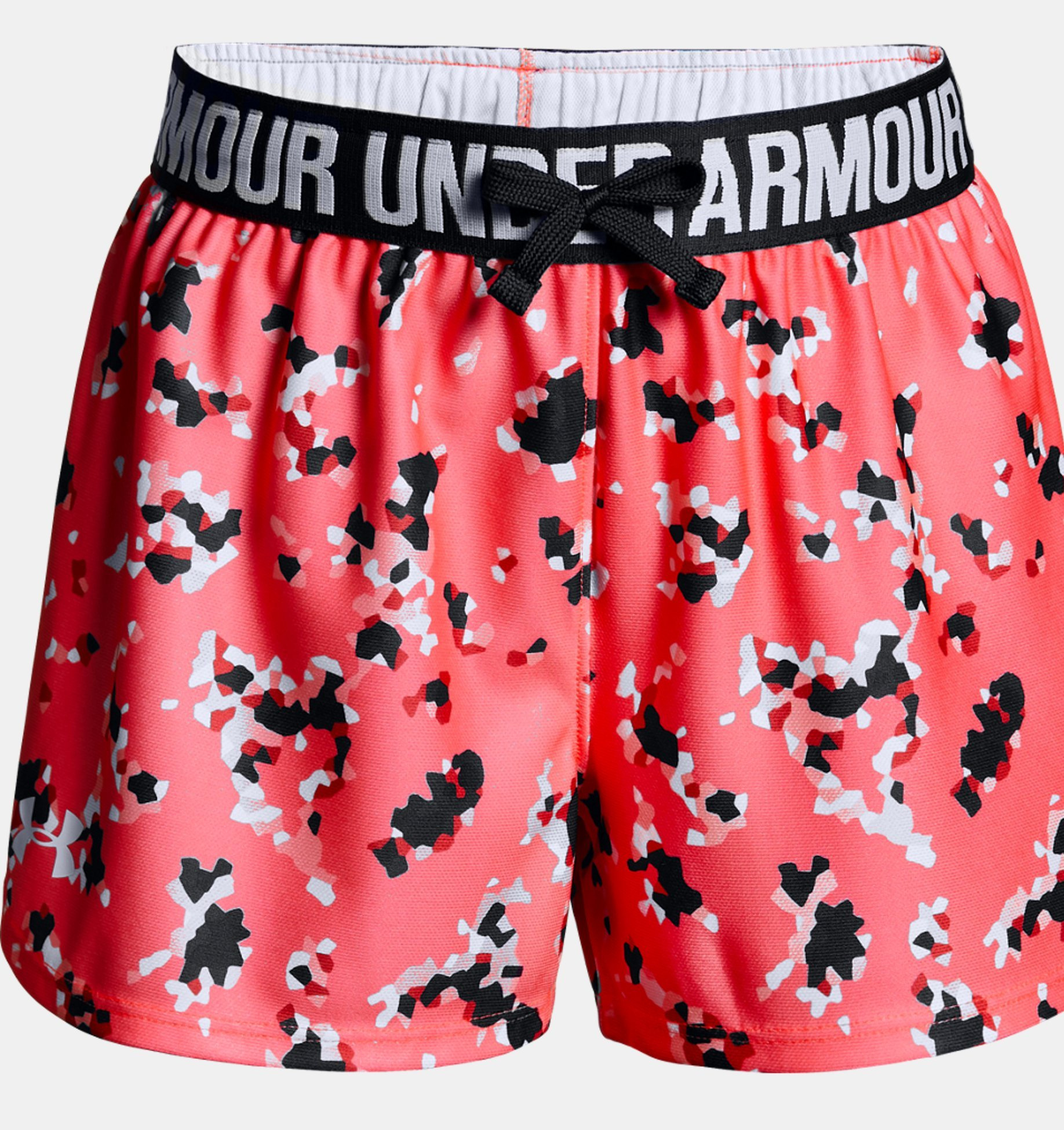 Under Armour Girls Play Up Printed Shorts, Brilliance /White, Youth X-Small