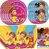 Unique Fancy Nancy Dinnerware Bundle Officially Licensed by Unique   Napkins, Plates, Tablecover   Great for Kids Birthday Pa