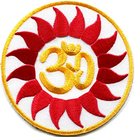 Aum hindú OM hindú India Yoga Paz Trance bordado Applique ...