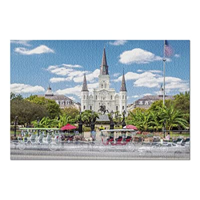 New Orleans, Louisiana - St. Louis Cathedral 9006704 (Premium 1000 Piece Jigsaw Puzzle for Adults, 20x30, Made in USA!): Toys & Games [5Bkhe1000936]