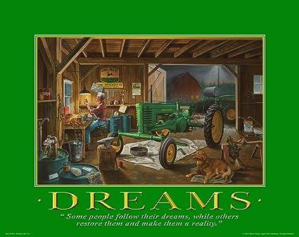 Amazon.com: John Deere Tractor Motivational Poster Art Print 11x14 ...