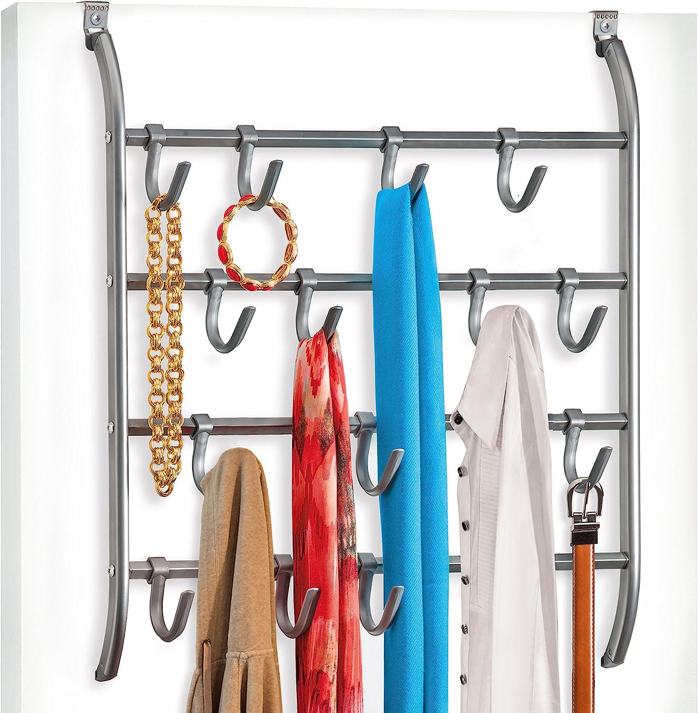 Steel Hooks Coat Hat Clothes Robe Hanger Holder Rack Hook Door Hook Wall Mounted