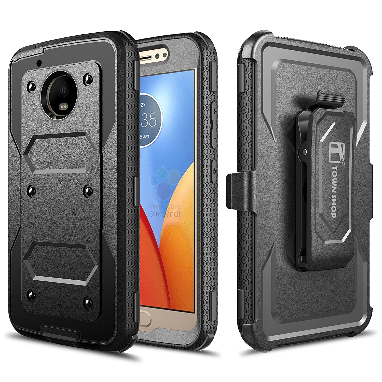 best website 53799 5f72d Moto G5 Case, Moto G(5th Gen.) Case, TownShop Navy Blue Hard Rubber Impact  Dual Layer Shockproof Silicone Bumper Case for Motorola Moto G5 / Moto G ...