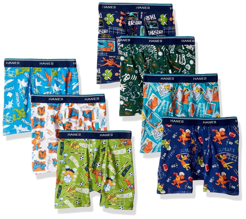 Hanes boys Toddler Boys Hanes Boys' 7-pack Days Of The Week Boxer Brief Hanes Girls 7-16 Underwear BTDWBB