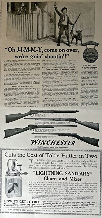Original 1917 Winchester Gun Advertisement..be Nice Framed Advertising-print Merchandise & Memorabilia