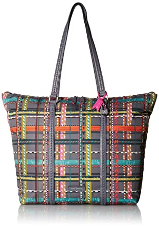 80161943e9 Amazon.com  Vera Bradley Midtown Tote City Plaid  Clothing