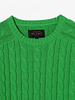Cotton Cable Crewneck Sweater 11-15-1160-103: Green