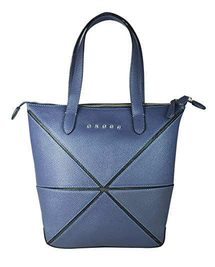 c9e18f0a3f Cross Women s Genuine Leather Origami Small Collapsible Hand Bag (Navy  Blue)  Amazon.in  Shoes   Handbags