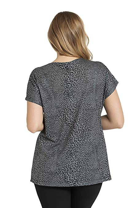 decea46e20 Tops   Plus Women s Plus Size Cheetah Print Top - Anthracite at Amazon  Women s Clothing store