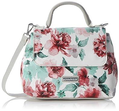 Damen Bliss Handbag Henkeltasche, Mehrfarbig (Light Grey), 17x23x29 cm Bulaggi