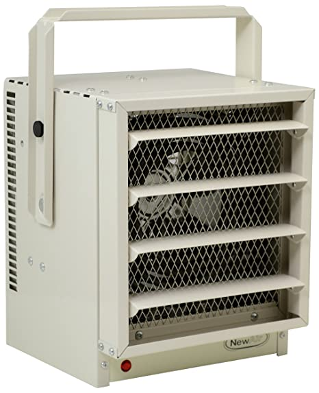 NewAir G73 Hardwired Electric Garage Heater, Heats up to 500 square on
