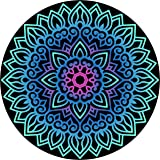 The Puzzle Pros - 1000 Piece Mandala Puzzle - Difficult Round Puzzles for Adults Vivid Color Challenge Circle Jigsaw Puzzles