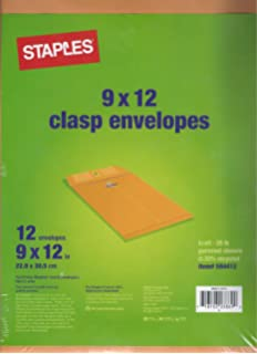 amazon com staples kraft clasp envelopes brown 12 pack 594411