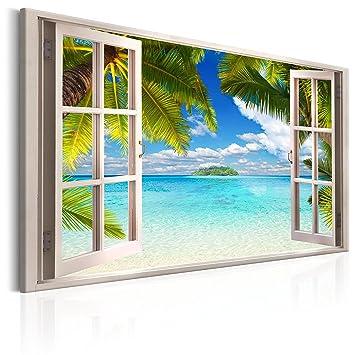 Murando   Bilder Fensterblick 120x80 Cm   Leinwandbild   1 Teilig    Kunstdruck   Modern