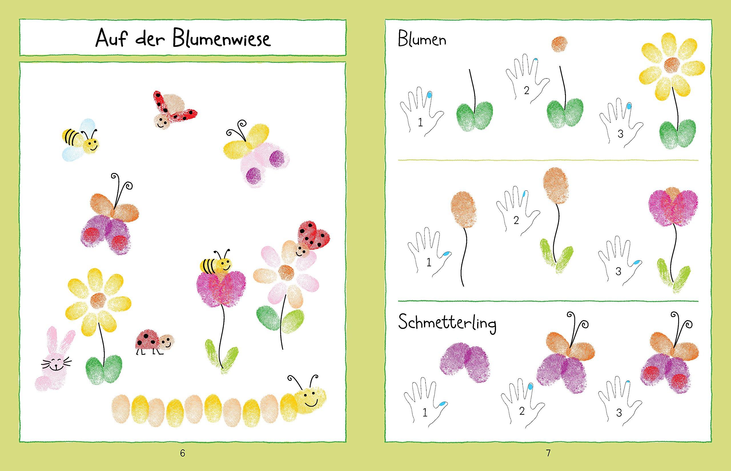 Mein Fingerabdruck Stempelbuch Für Kindergartenkinder Amazonde