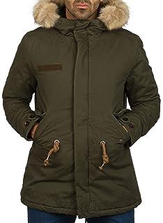 faaa96e9776f Gefütterte Herren Winterjacke mit Kunst Fell Kapuze Coat der Marke Young   Rich  Jacke Parka Mantel