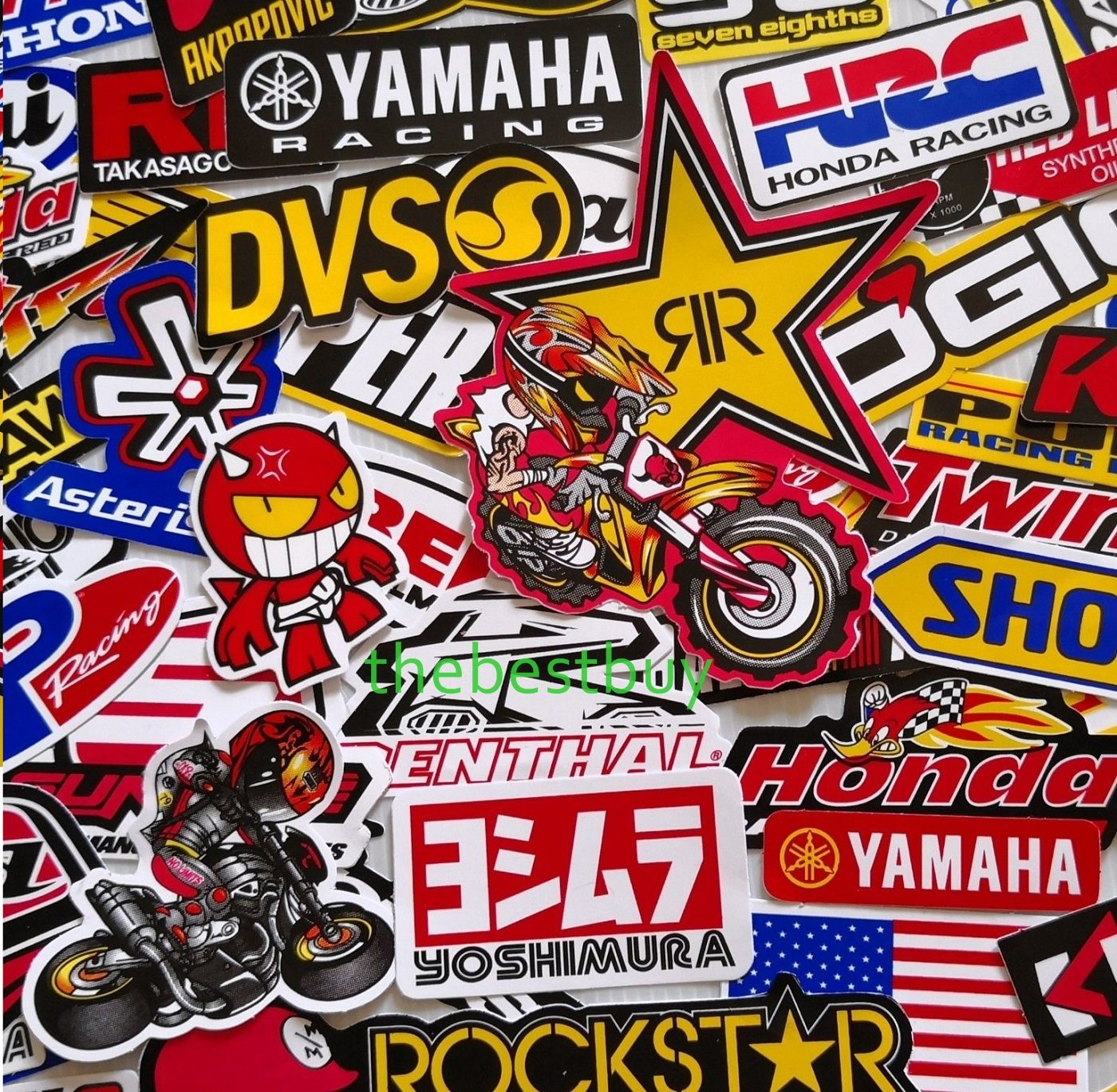 Amazon com thebestbuy 50 mixed random car motorcycle motocross racing stickers