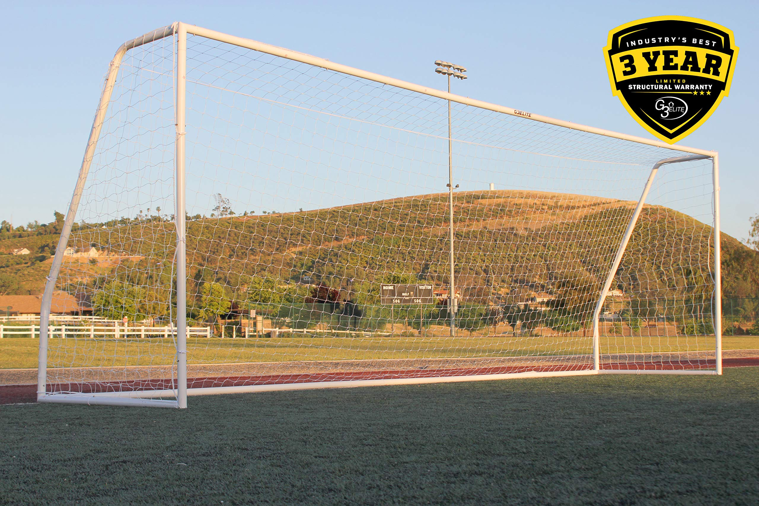 390c7b74258 G3Elite Pro Soccer Goal - Official Regulation League   Tournament Sized -  24x8