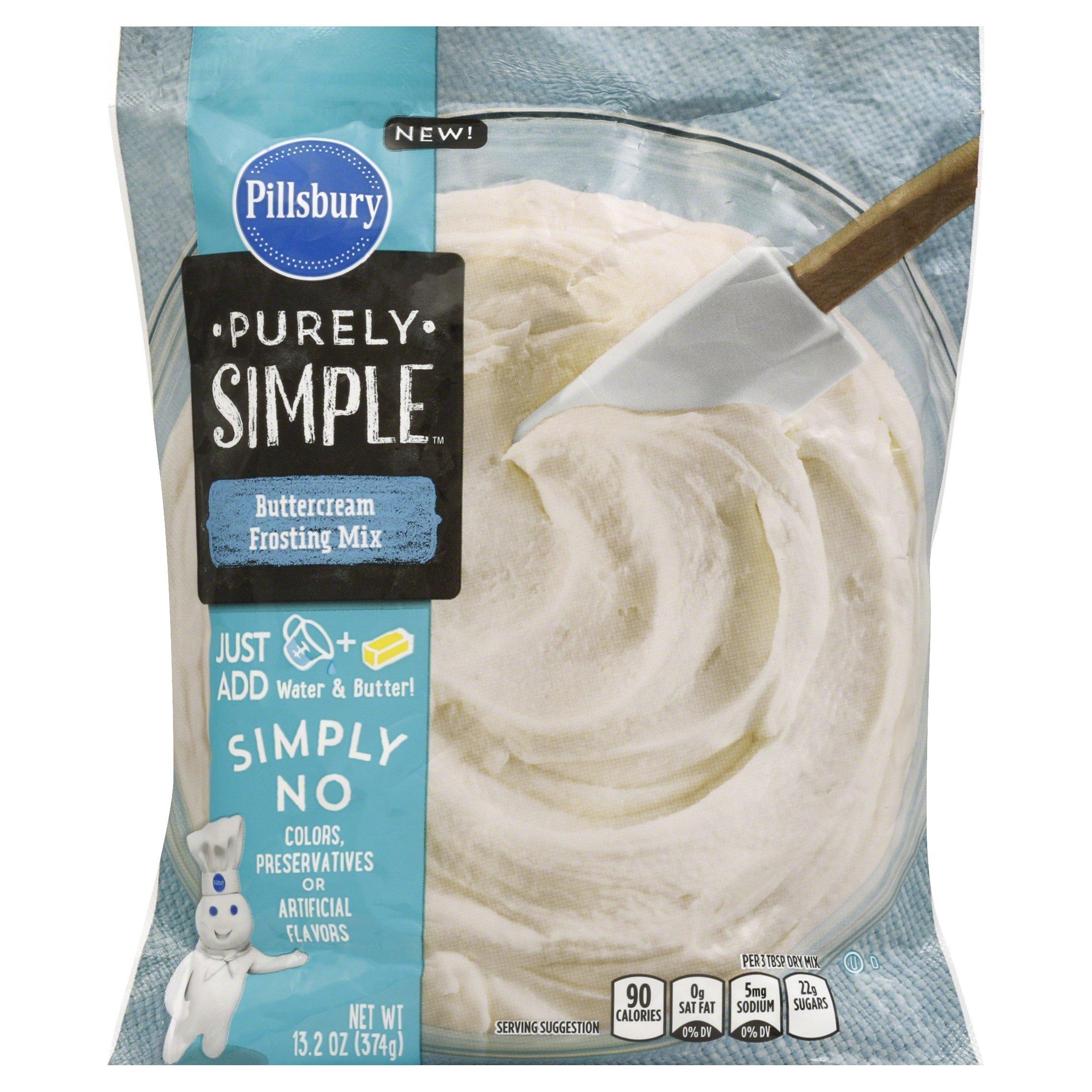 Pillsbury Purely Simple Buttercream Frosting Mix, 13.2 oz by Pillsbury (Image #1)