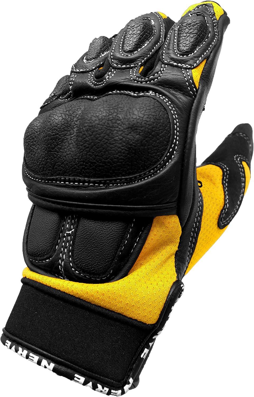 NERVE 1513120109/_03 Sporty Motorcycle Gloves Size : 9 Medium Black//Orange