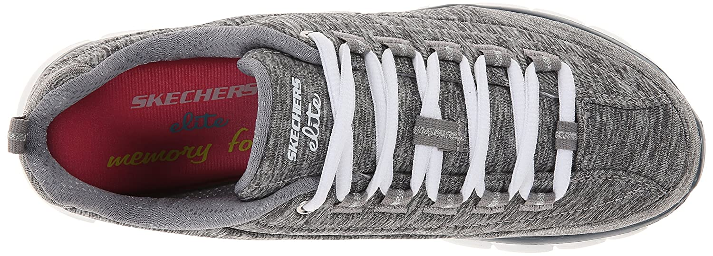 Skechers Sport Women's Elite Synergy Fashion Sneaker B00LV9X0PQ 7 B(M) US|Gray