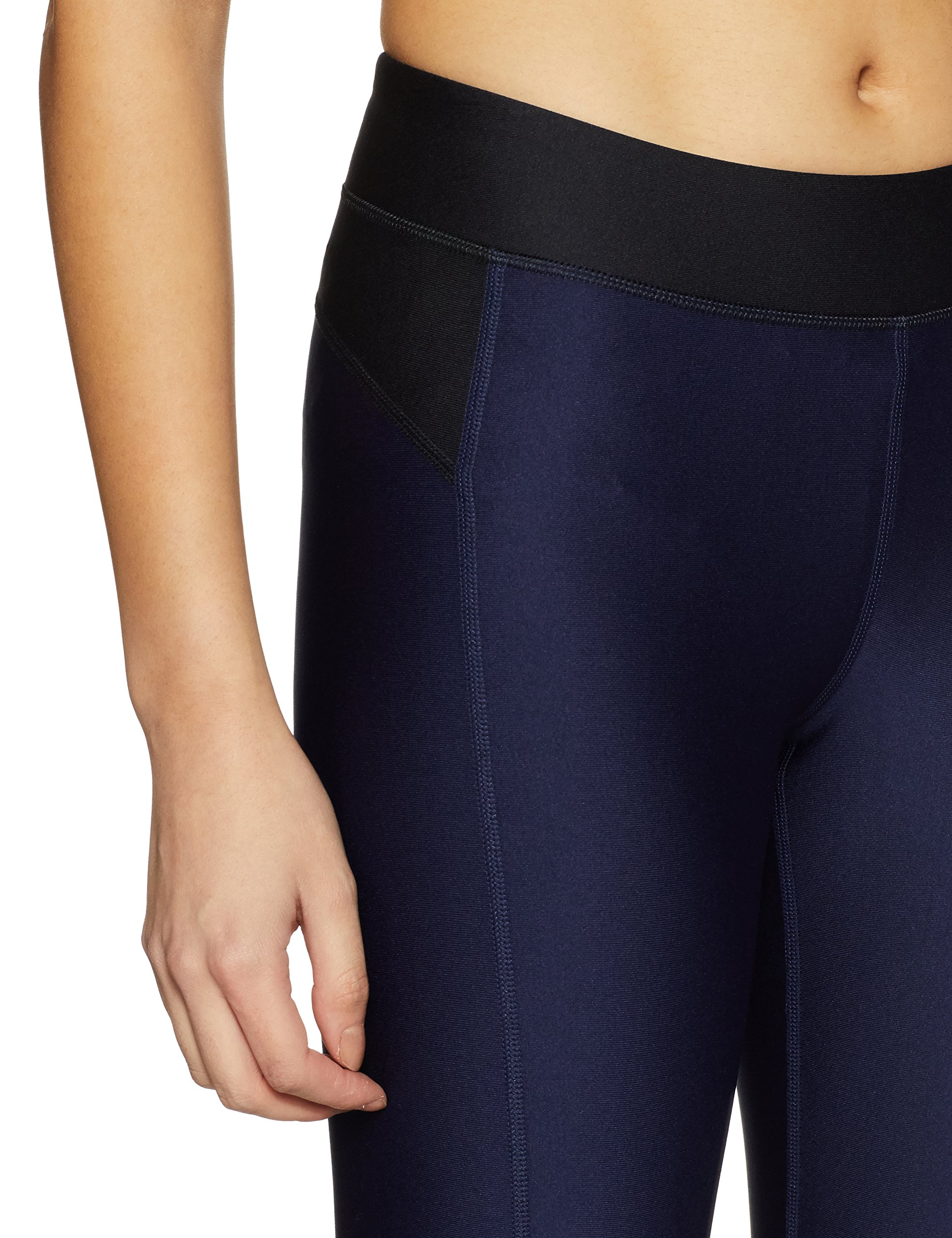 Under Armour Womens Heatgear Armour Leggings, Midnight Navy /Metallic Silver, XX-Large by Under Armour (Image #4)