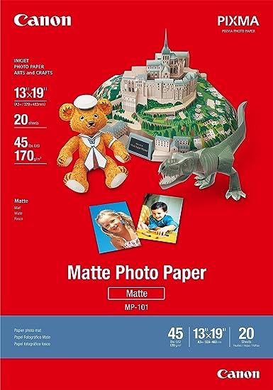 Amazon.com : Canon Matte Paper, Letter Size, 50 Sheets : Photo ...