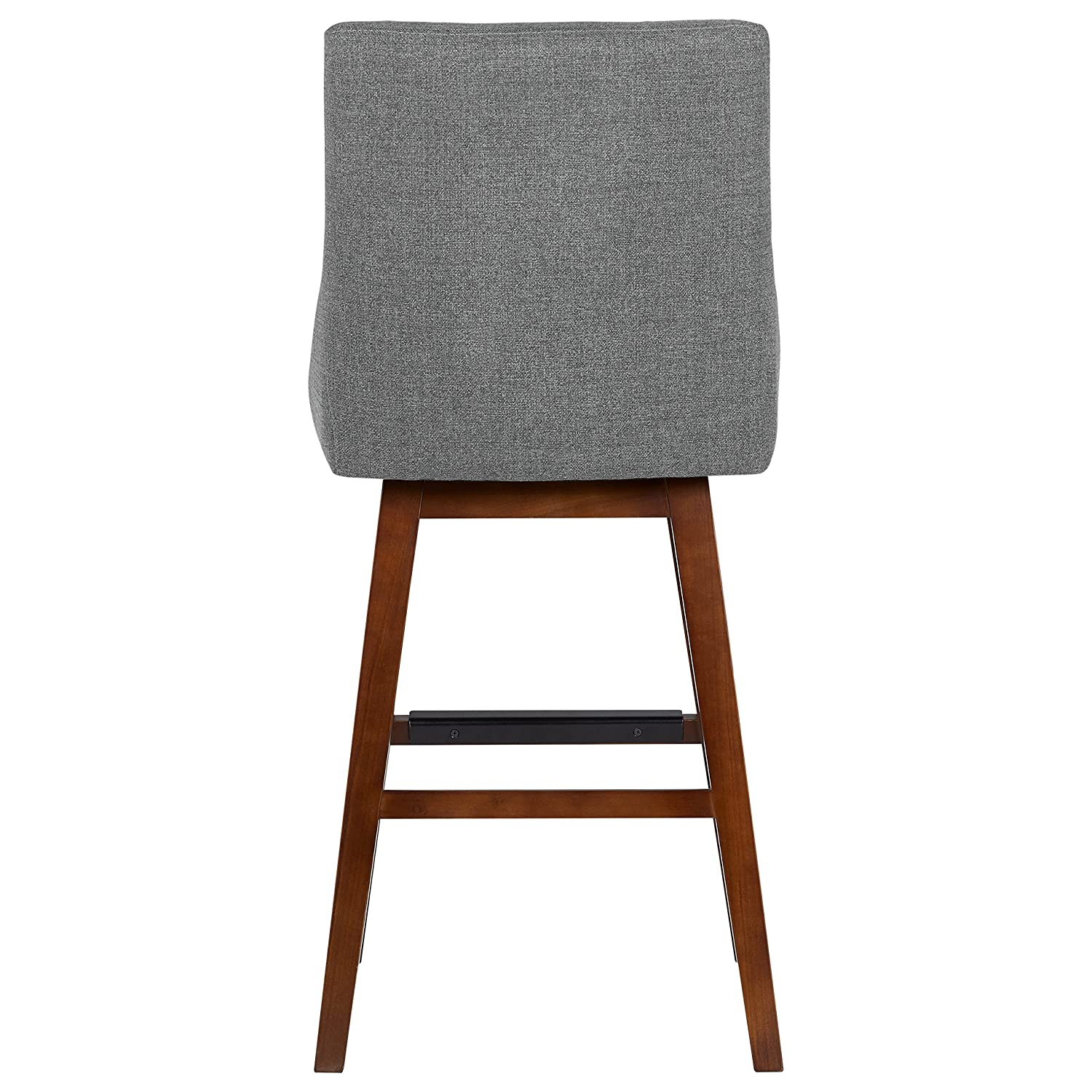 Stone Beam Alaina Modern Swivel Bar Stool, 42.5 H, Grey