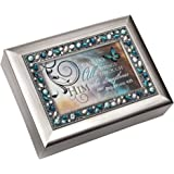 """""""I Can Do All Things Through Him"""" Philippians 4:13 Religious Decorative Jewel Lid Musical Music Jewelry Box Plays On Eagle's Wings"""