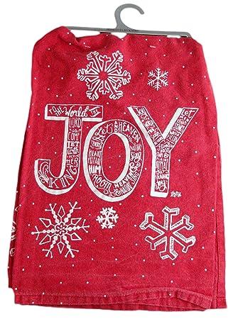 Joy copo de nieve toalla - Toalla de mano de cocina - para decoración para invierno y Navidad - Idea de regalo: Amazon.es: Hogar
