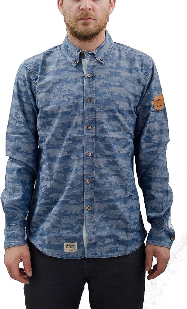Picture – Camisa ml Safari Hombre – Talla: One Size Vaquero Medium: Amazon.es: Ropa y accesorios