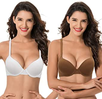 Curve Muse Womens Plus Size Full Coverage Padded Underwire Bra-1 or 2PK