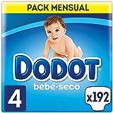 Dodot Bebé-Seco - Pañales para bebé con canales de aire, Talla 4 (9-14 kg) - 192 Pañales