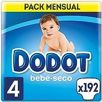 Dodot Bebé-Seco - Pañales para bebé con canales de aire, 9-14 kg, Talla 4 (9-15 kg) - 192 Pañales