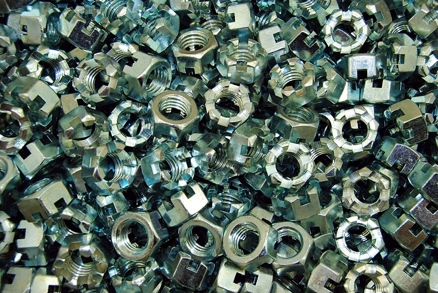 150 Slotted Hex Castle Nuts 1//2-13 Thread Zinc Plated