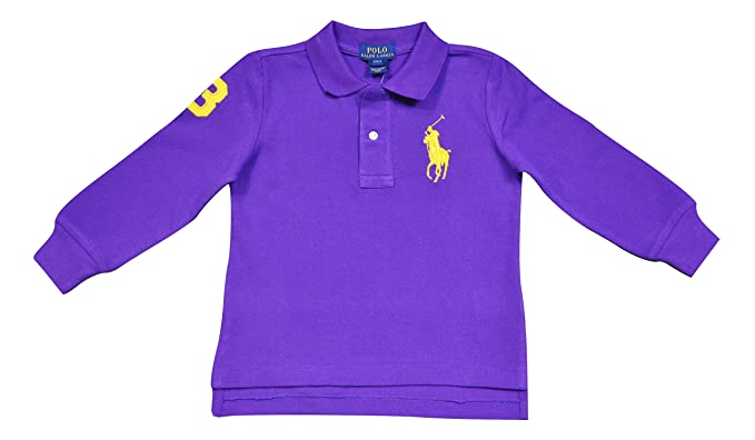 huge selection of 06f31 e8cc5 Polo Ralph Lauren BAMBINO MANICHE LUNGHE COLORE VIOLA ...