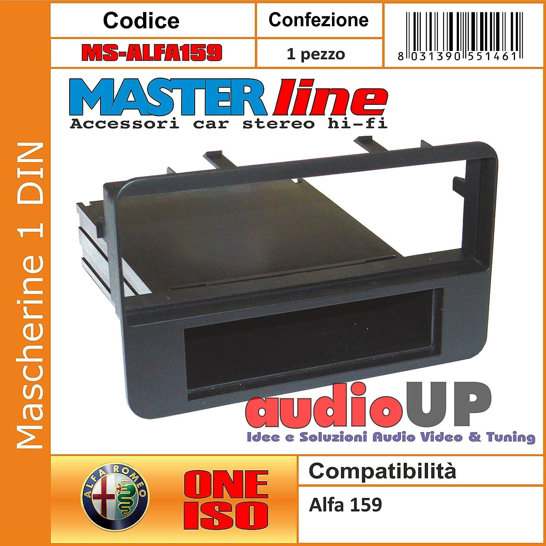 MASCHERINA AUTORADIO 1 DIN ALFA 159 CON CASSETTO ADATTATORE UN DIN MASTERLINE