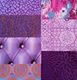 Decopatch Mixed Paper Packs For Decoupage and other craft projects - PURPLE (14 mini sheets)