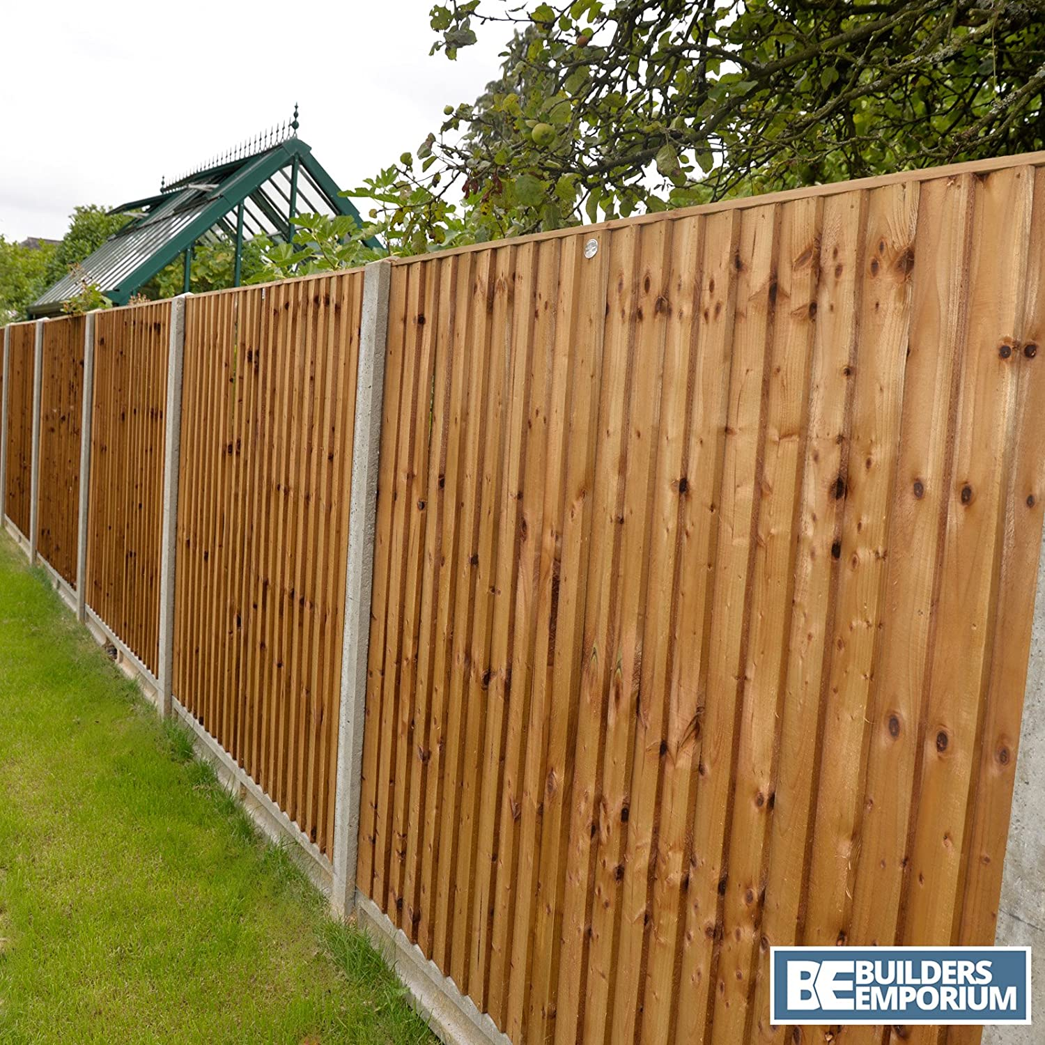 Close Board Fence Panels Heavy Duty Pressure Treated 6ft 5ft 4ft 3ft (6ft x 5ft) Weatherwelll