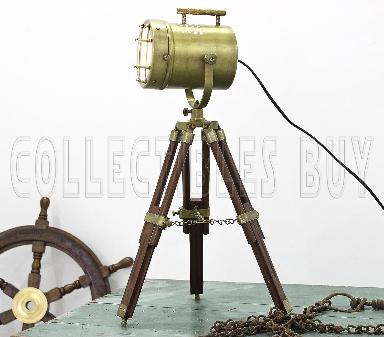 vintage decorative marine table lamp nautical royal wooden tripod