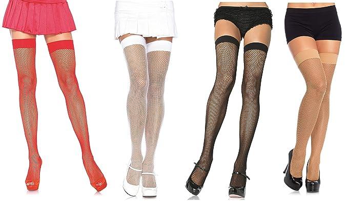 3ae0f96028e Leg Avenue Women s Nylon Fishnet Thigh High Stockings  Amazon.ca ...