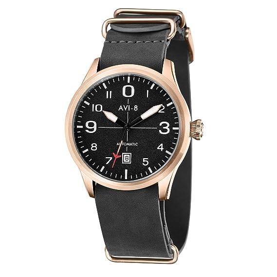 AVI-8 Reloj para Hombre de con Correa en Cuero AV-4021-04: Amazon.es: Relojes