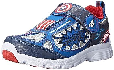 86ba16d3427681 Stride Rite Avengers Captain America Light-up Athletic Shoe (Toddler Little  Kid)