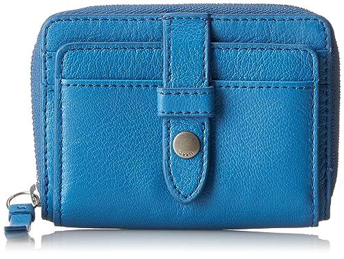 Fossil - Damen Geldbörse ? Fiona Kleingeldbeutel, Carteras Mujer, Azul (Blue), 1.59x9.2100000000000009x11.11 cm (B x H T): Amazon.es: Zapatos y complementos