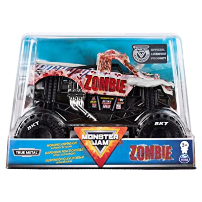 Monster Jam Official Zombie Monster Truck Die-Cast Vehicle, 1:24 Scale: Toys & Games