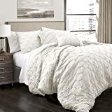 Amazon Com Lush Decor Avon Comforter Ruffled 3 Piece
