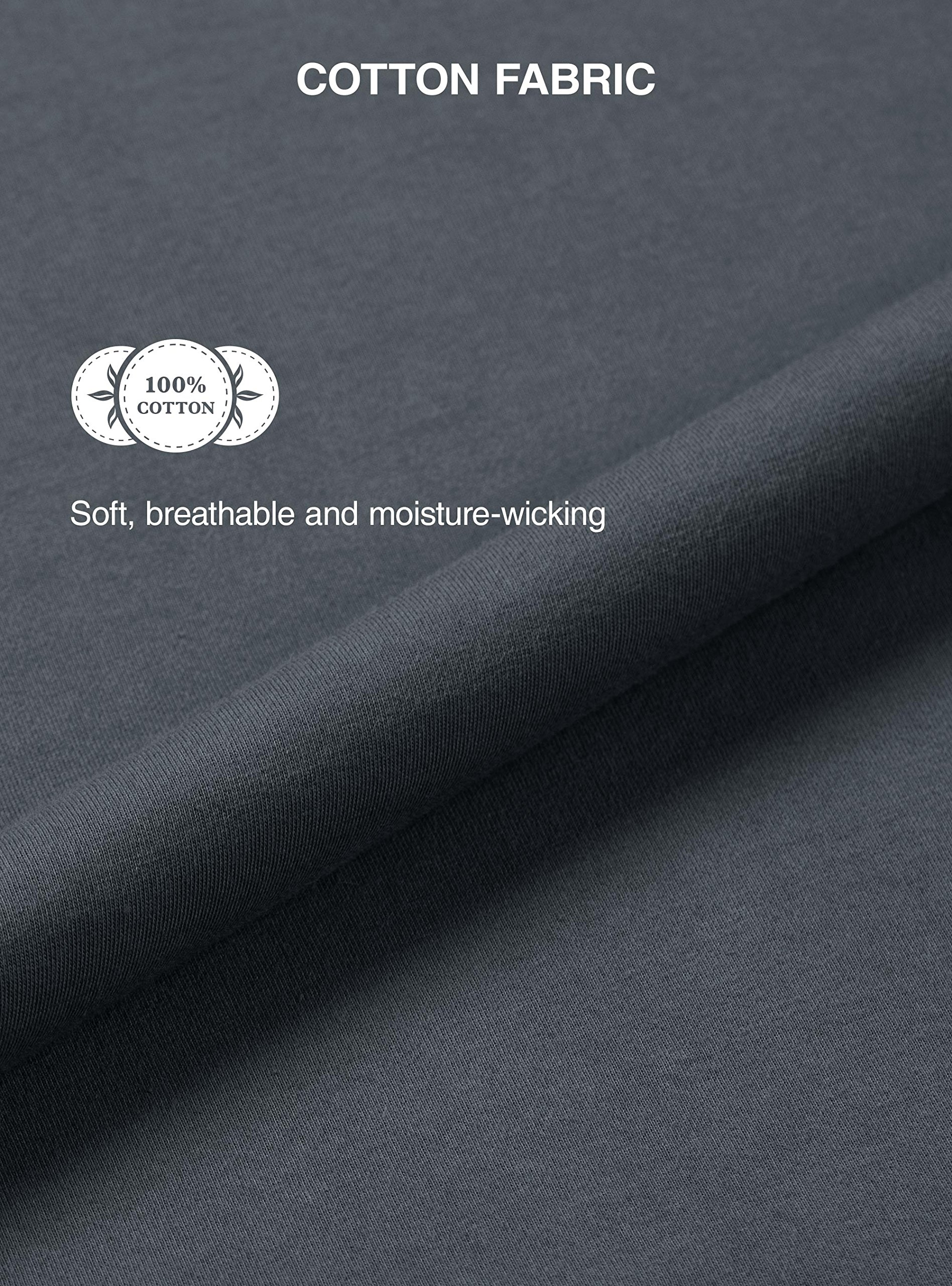 David Archy Men's 100% Cotton Long Button-Down Sleepwear Pajama Set (M, Dark Gray) by David Archy (Image #6)
