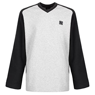 925ed28899238f NIKE AIR JORDAN KIDS YOUTHS LONG SLEEVE LIGHTWEIGHT V NECK TOP BEIGE BLACK  RRP