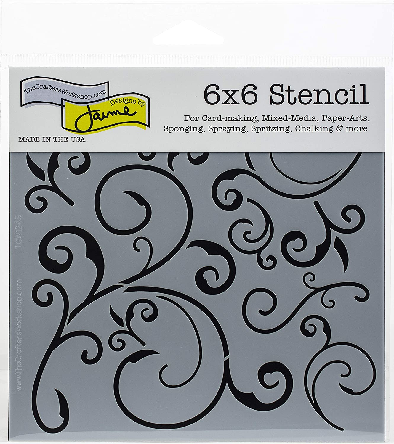 """The Crafter's Workshop TCW124S Stencil Capricious, 6"""" x 6"""""""